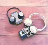 el concepto de la tecnología de la diferencia, imagen del pla elegante del teléfono Fotos de archivo libres de regalías