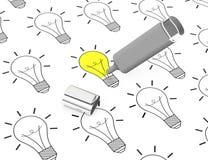 El concepto de las ideas Imagen de archivo libre de regalías
