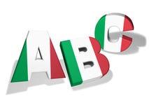 Concepto italiano de la escuela del ABC Imagen de archivo libre de regalías