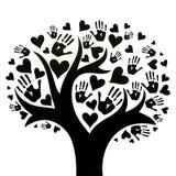 El concepto de paz, de unidad, de amistad y de amor ilustración del vector