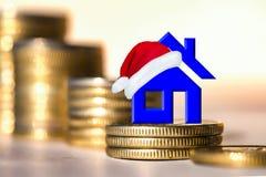 El concepto de propiedades inmobiliarias de las ventas de la Navidad Imagenes de archivo