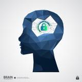 El concepto de protección de la propiedad intelectual stock de ilustración