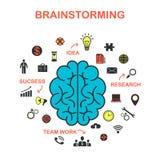 El concepto de reunión de reflexión, el concepto de márketing creativo ilustración del vector