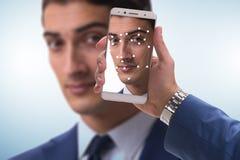 El concepto de software y de soporte físico del reconocimiento de cara fotos de archivo libres de regalías