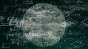 El concepto de tiempo, matemáticas, la física libre illustration