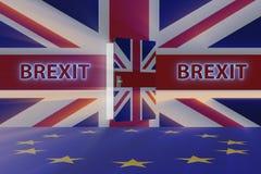 El concepto del brexit - Reino Unido que sale del ue - representación 3d Fotografía de archivo libre de regalías
