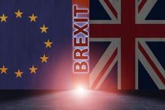 El concepto del brexit - Reino Unido que sale del ue - representación 3d Fotografía de archivo