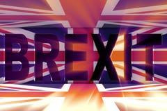 El concepto del brexit - Reino Unido que sale del ue - representación 3d Fotos de archivo libres de regalías