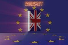 El concepto del brexit - Reino Unido que sale del ue - representación 3d Imágenes de archivo libres de regalías