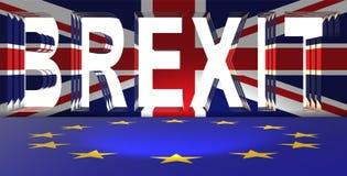 El concepto del brexit - Reino Unido que sale del ue - representación 3d Imagen de archivo