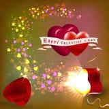 El concepto del día de tarjeta del día de San Valentín Imagen de archivo libre de regalías