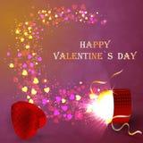 El concepto del día de tarjeta del día de San Valentín Imágenes de archivo libres de regalías