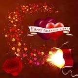 El concepto del día de tarjeta del día de San Valentín Foto de archivo libre de regalías