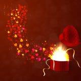 El concepto del día de tarjeta del día de San Valentín Imagen de archivo