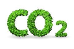 El concepto del invernadero con el gas del CO2 - representación 3d ilustración del vector