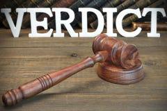 El concepto del jurado del veredicto Foto de archivo