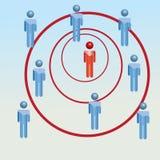El concepto del negocio sea diferente ilustración del vector