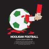 El concepto descortés del fanático del fútbol del fútbol o Imagen de archivo