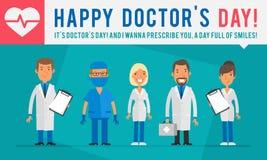 El concepto doctor a Day Group People se cuida y cuida libre illustration