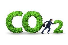 El concepto ecológico de emisiones de gases de efecto invernadero fotografía de archivo libre de regalías
