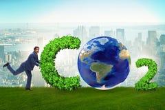 El concepto ecológico de emisiones de gases de efecto invernadero fotografía de archivo