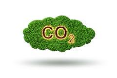 El concepto ecológico de emisiones de gases de efecto invernadero - representación 3d stock de ilustración