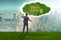El concepto ecol?gico de emisiones de gases de efecto invernadero fotos de archivo libres de regalías