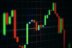 El concepto financiero del gráfico del mercado de acción de inversión empresarial y las cartas de negocio comunes del comercio fu imágenes de archivo libres de regalías