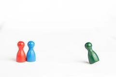 El concepto o el criminal del mirón que corre lejos con el juego figura Foto de archivo libre de regalías