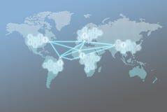 El concepto social global del negocio del márketing de la red libre illustration