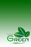 El concepto verde, piensa verde (incluya los caminos de recortes) Fotos de archivo