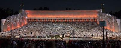 El concer magnífico nacional letón del final del festival de la canción y de la danza Imagen de archivo