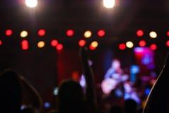 El concierto enciende el bokeh Imagen de archivo libre de regalías