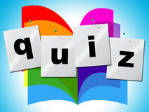 El concurso pregunta los FAQ de los medios con frecuencia y somete a interrogatorio Fotos de archivo