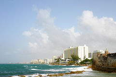El Condado和圣Gerà ³ nimo堡垒 库存图片