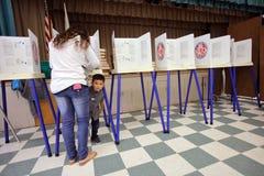 EL CONDADO DE VENTURA, CA - 7 DE JUNIO DE 2016 -- Ventura Polling Station para foto de archivo libre de regalías