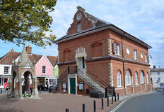 El condado Hall Woodbridge Suffolk Imagen de archivo