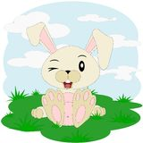 Conejito feliz de la historieta de Pascua libre illustration