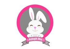 El conejo con me adopta mensaje Fotos de archivo libres de regalías