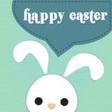 El conejo dice pascua feliz Fotos de archivo libres de regalías
