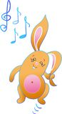 El conejo está bailando ilustración del vector