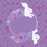 El conejo salta la plantilla del círculo del diamante de la moda Fotografía de archivo libre de regalías