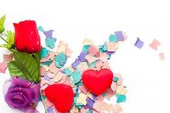 El confeti y subió Imagen de archivo libre de regalías