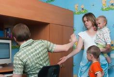 El conflicto en una familia Imagen de archivo libre de regalías