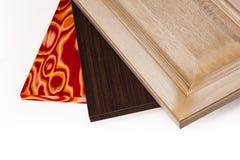 El conglomerado laminado del tablero de madera aglomerada se utiliza en los muebles ind Imagen de archivo