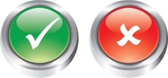 El conjunto agradable de iconos brillantes tiene gusto de los botones Fotografía de archivo libre de regalías