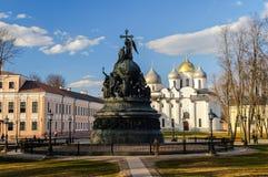 El conjunto arquitectónico del Novgorod el Kremlin Imagenes de archivo