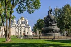 El conjunto arquitectónico del Novgorod el Kremlin Fotos de archivo libres de regalías