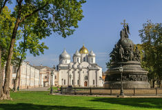 El conjunto arquitectónico del Novgorod el Kremlin Foto de archivo libre de regalías