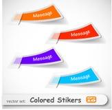 El conjunto coloreado abstracto de la etiqueta engomada Imagen de archivo libre de regalías